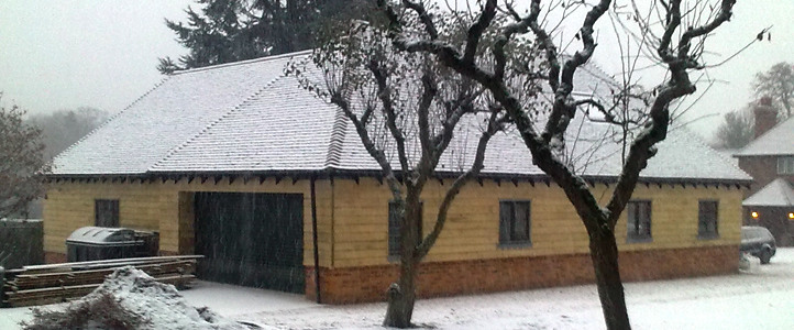 Barn Conversion in Snow